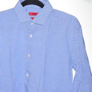 Hugo Boss 15.5 Blue Checks Slim Fit LS BF Shirt